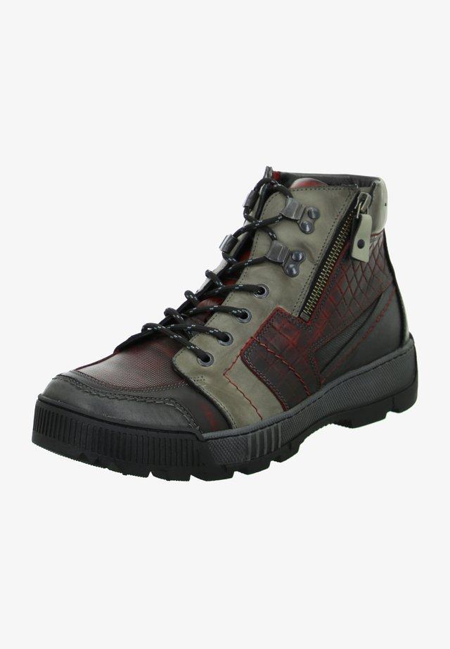 Winter boots - bordeaux - grau - schwarz