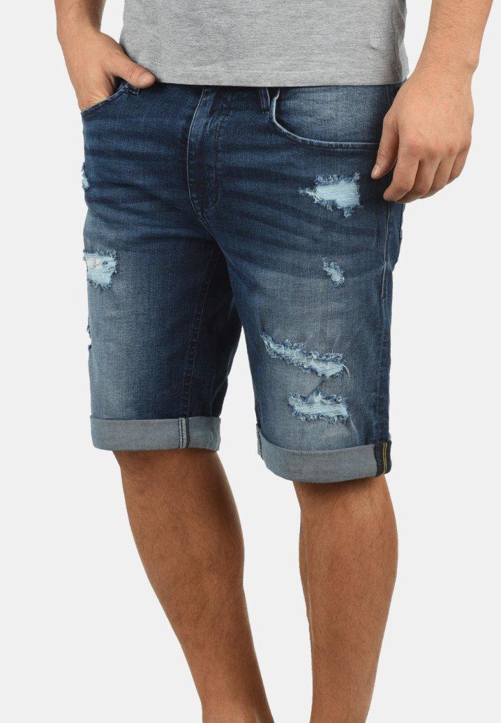 Blend - JEANSSHORTS DENIZ - Denim shorts - denim dark