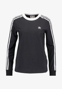 adidas Originals - ADICOLOR 3 STRIPES LONGSLEEVE TEE - Camiseta de manga larga - black - 4