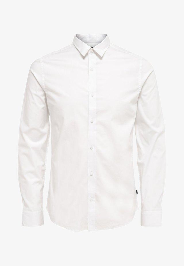 ONSALFREDO LS SHIRT EX-SLIM NOOS - Shirt - white