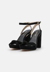 Anna Field - LEATHER - Højhælede sandaletter / Højhælede sandaler - black - 2