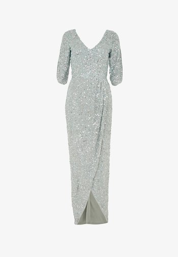 CLARICE EMBELLISHED SEQUINS  - Occasion wear - sage green