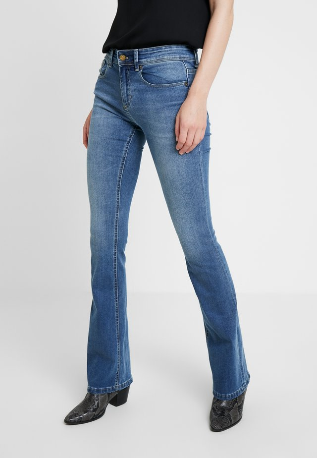 MELROSE - Jeans bootcut - stone