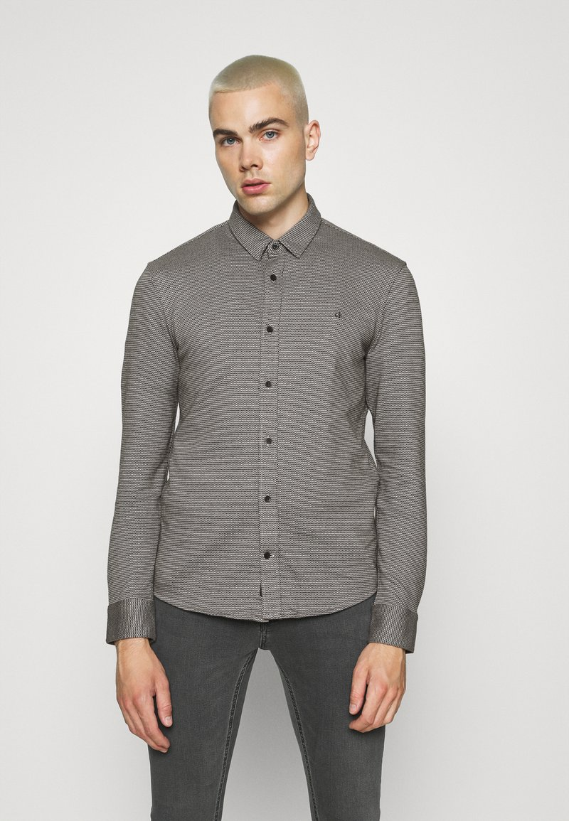 Calvin Klein Tailored - SLIM FIT - Shirt - black