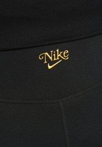 Nike Performance - FEMME ONE SHORT  - Tights - black/metallic gold - 3
