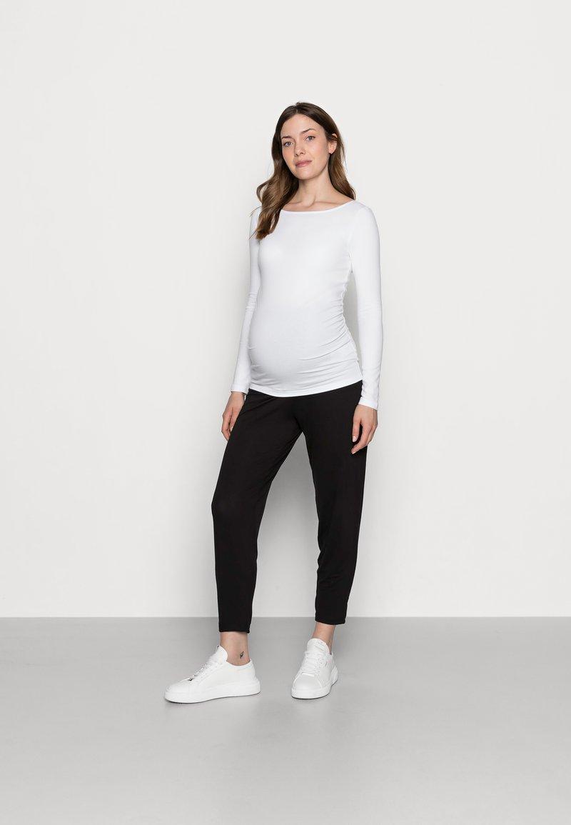 Anna Field MAMA - 3 PACK - T-shirt à manches longues - black/dark grey/white