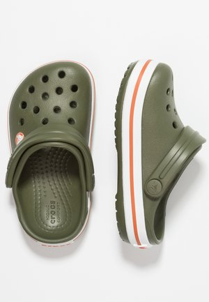 CROCBAND - Pool slides - army green/burnt sienna