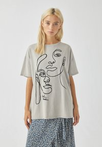 PULL&BEAR - T-Shirt print - off-white - 0