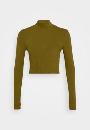 MATIAMU BY SOFIA  LONG SLEEVE TIE BACK - Long sleeved top - dark green