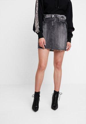 SKIRT - Denim skirt - dark grey