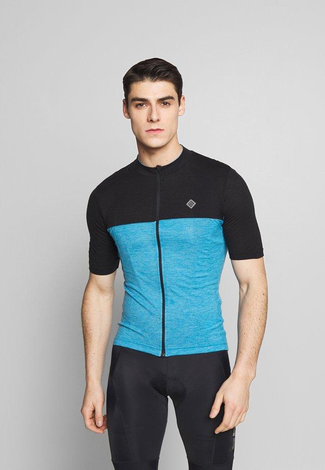 VELOZIP NUL MEN - T-shirt z nadrukiem - mykonos blue