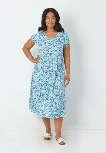AQUA DITSY - Day dress - turquoise