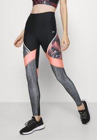 ONLY Play - ONPJUDIE TRAINING  - Leggings - black/fiery coral - 0
