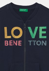 Benetton - Hoodie met rits - dark blue - 2