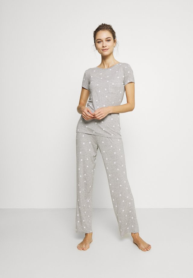 PRINT SET - Pyjama - grey mix