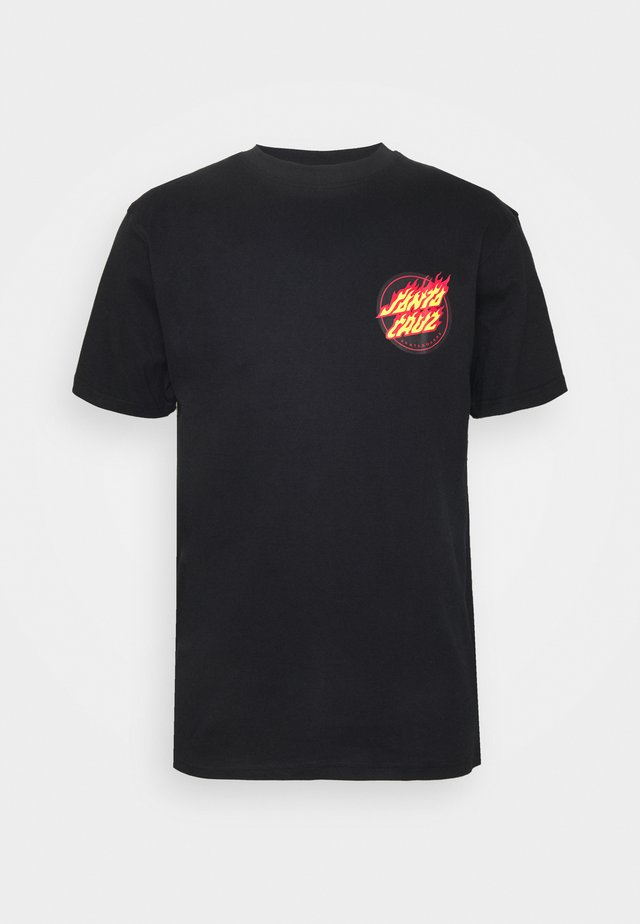 FLAMING JAPANESE - T-shirts med print - black