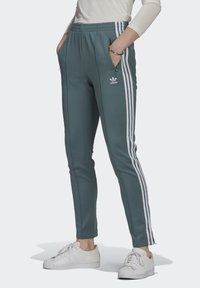 adidas Originals - PANTS - Tracksuit bottoms - hazy emerald - 0