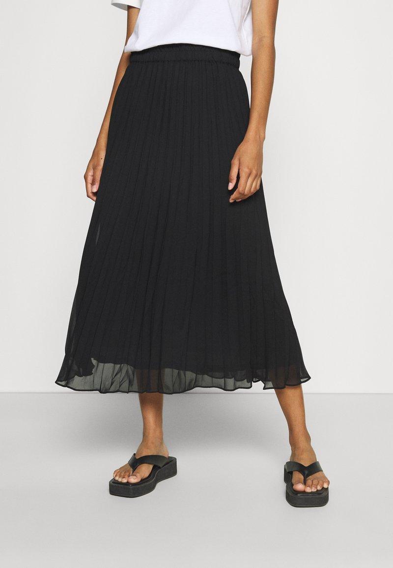 Monki - A-line skirt - black dark