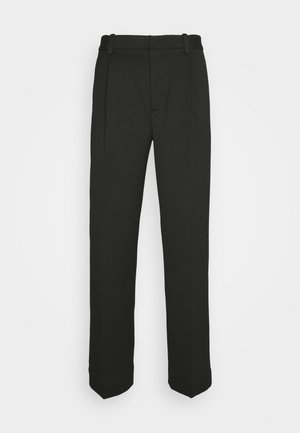 SINGLE PLEAT PANT - Trousers - black