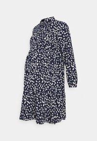 MAMALICIOUS - MLGLOMMA SHIRT DRESS - Shirt dress - navy blazer/snow white - 4