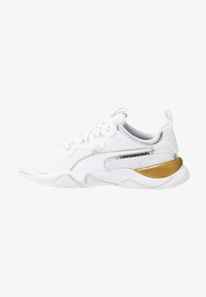 ZONE XT METAL - Zapatillas de entrenamiento - white/metallic gold