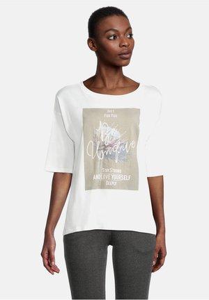 Print T-shirt - cream/nature