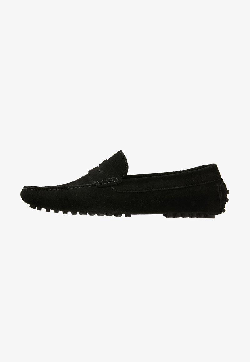 Pier One - LEATHER - Nazouvací boty - black