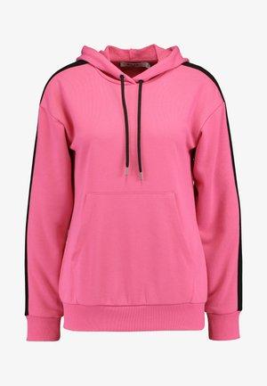 CONTRAST PANEL HOODIE - Hoodie - neon pink