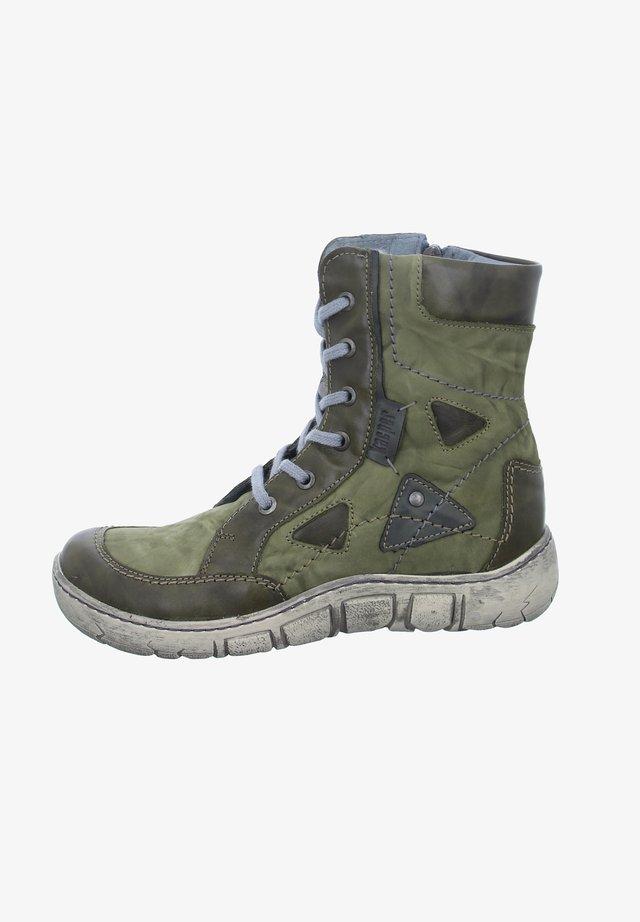 Lace-up ankle boots - grün