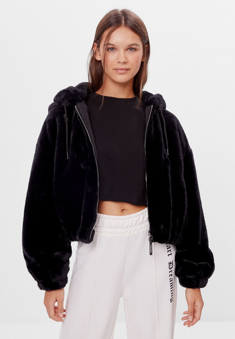 Bershka - Fleece jacket - black