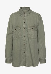 American Eagle - CORE MILITARY - Button-down blouse - oliv - 5