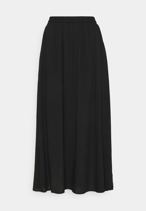 VMSIMPLY EASY SKIRT - Maxi skirt - black