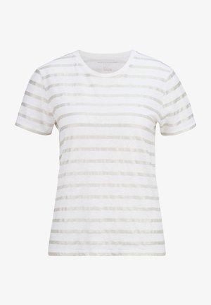 Print T-shirt - blanc  silver metal