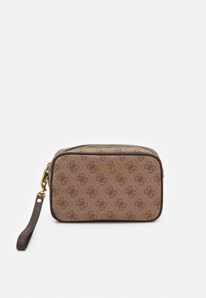 Guess - VEZZOLA SMALL NECESSAIRE UNISEX - Across body bag - brown