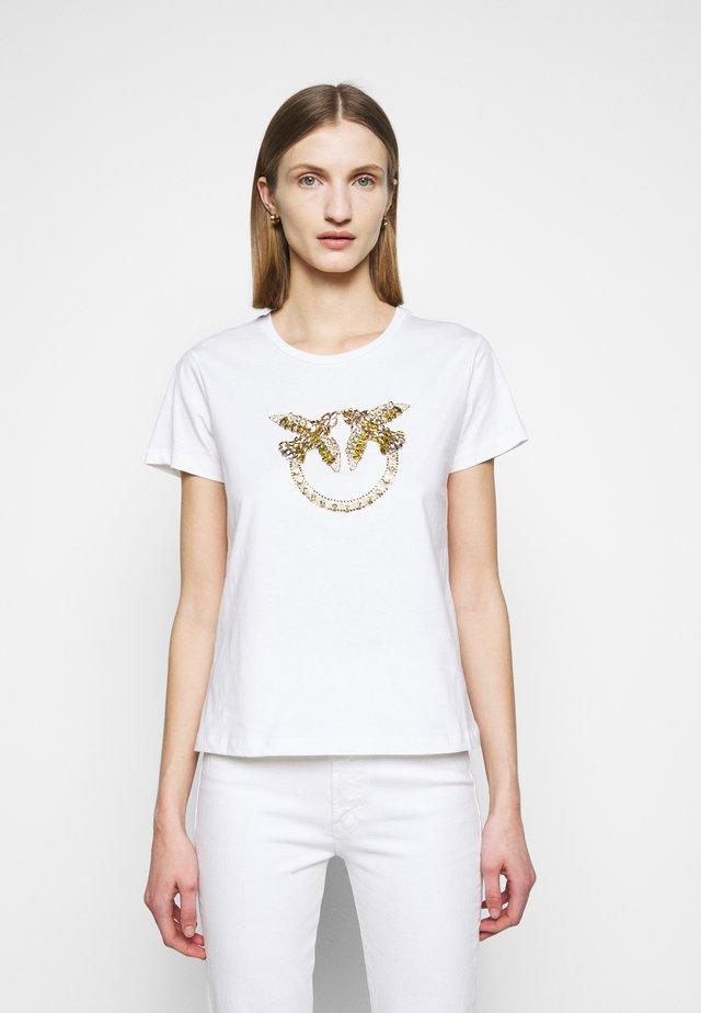 QUENTIN - T-shirt con stampa - white