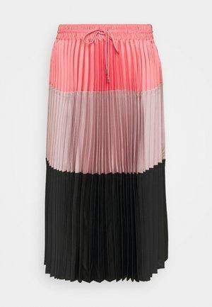 A LINE SKIRT - Plisovaná sukně - blush