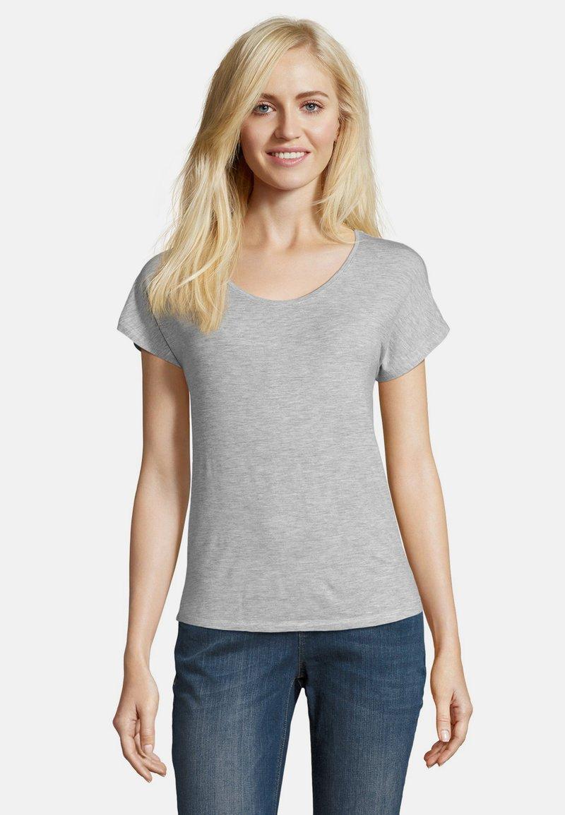 Betty & Co - Basic T-shirt - light silver melange