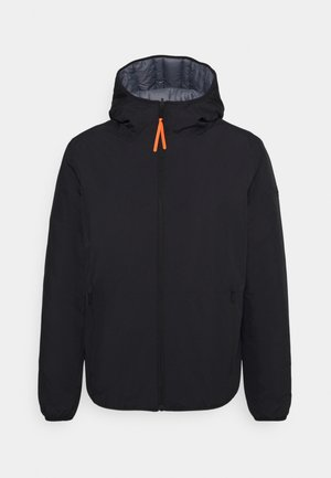 MAN JACKET FIX HOOD - Outdoorjacka - nero