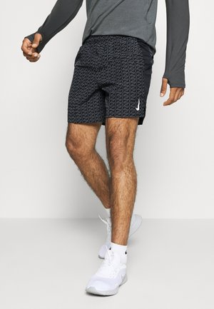 M NK RUN DVN CHLLGR FL 7IN BF - Sports shorts - black/white