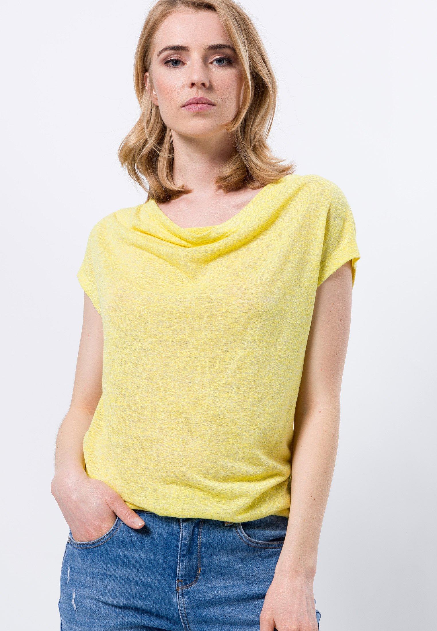 Damen MIT WASSERFALLAUSCHNITT - T-Shirt basic