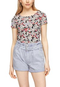 QS by s.Oliver - BLUMENMUSTER - Print T-shirt - apricot aop - 5