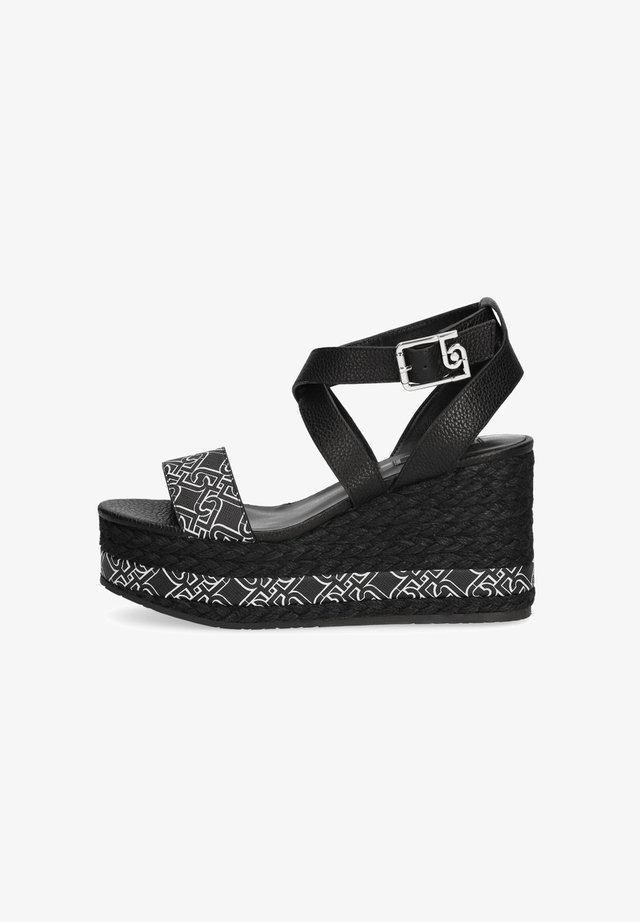 Sandali con tacco - black