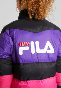 Fila - REILLY PUFF JACKET - Winter jacket - black/tillandsia purple/pink yarrow - 6
