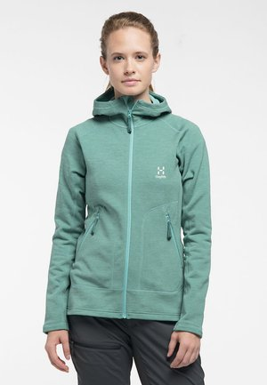 HERON HOOD - Fleece jacket - glacier green