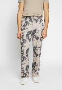 Jaded London - BLEACHED PINSTRIPE TROUSER - Trousers - grey - 0
