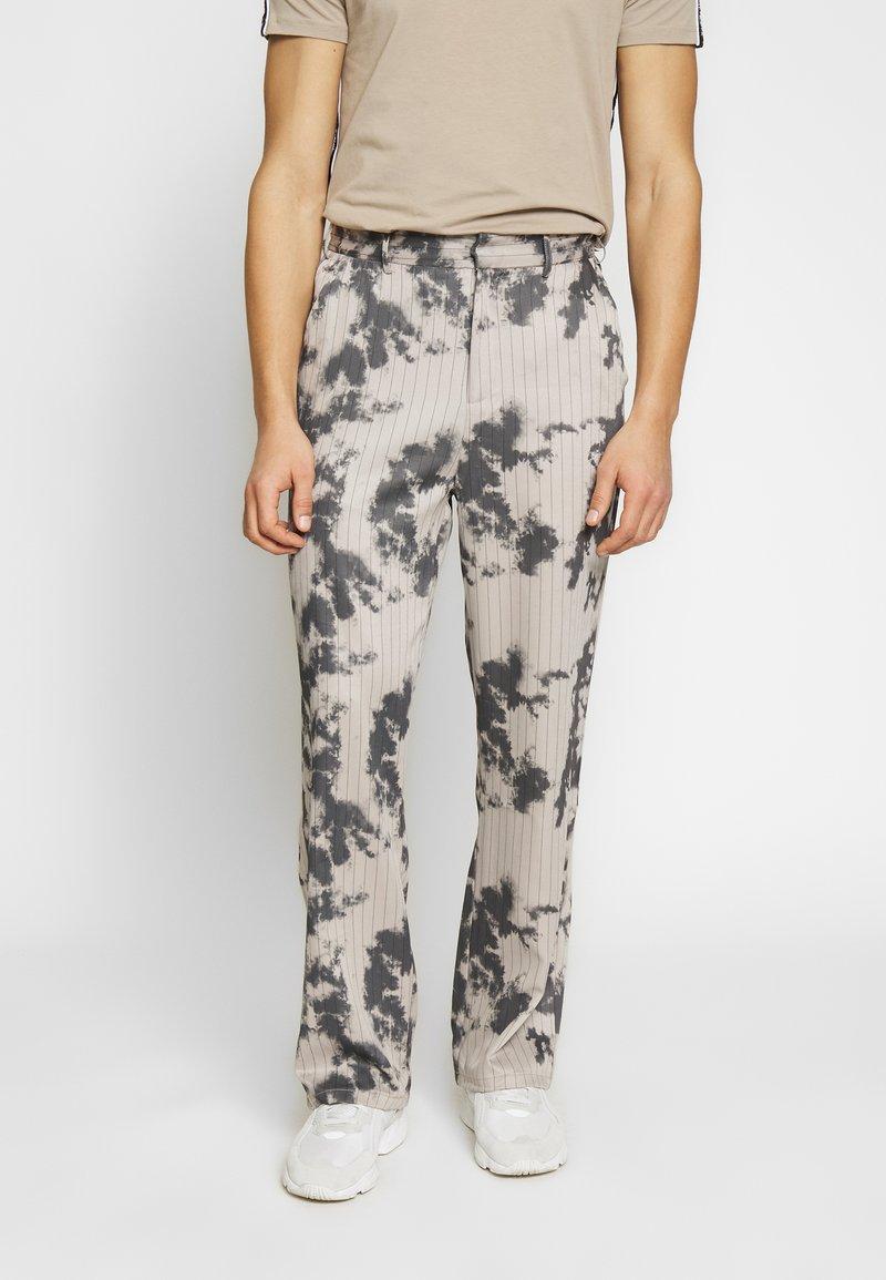 Jaded London - BLEACHED PINSTRIPE TROUSER - Trousers - grey