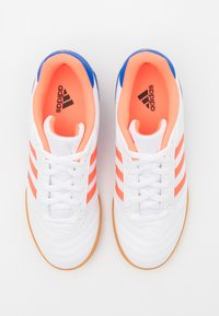 adidas Performance - SUPER SALA - Indoor football boots - footwear white/signal coral/glow blue - 3