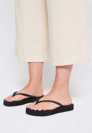 SLIM FLATFORM - Pool shoes - black