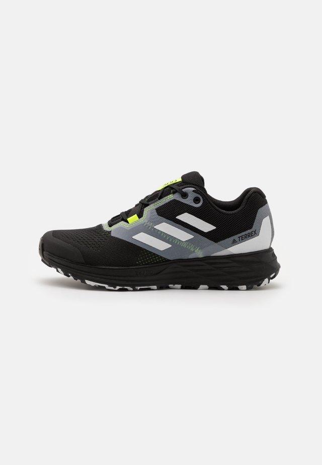 TERREX TWO FLOW - Trail running shoes - core black/crystal white/solar yellow