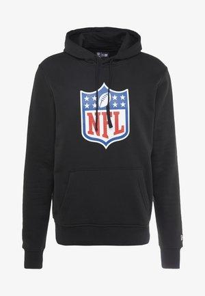 NFL SHIELD BACK TO BLACK HOODY - Felpa con cappuccio - black